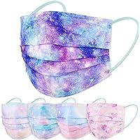 60PCS Women's Disposable Protective Face Mask Adult Size Magic Rainbow Mesh Fantasy Universe Princess Gradient Colors…