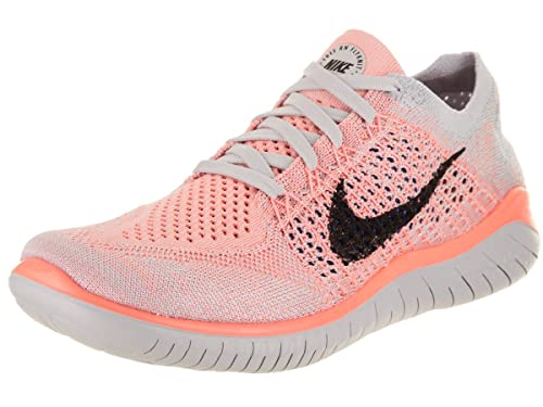 57fa540712f33 Nike Women s Free Rn Flyknit 2018 Crimson Pulse Black Ankle-High Running  Shoe -