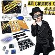 Spy Kit for Kids Detective Outfit Fingerprint Investigation Role Play Dress Up Educational Science STEM Toys Costume Secret Agent Finger Print Identification Set Boys Girls Age 6+ Birthday Gifts