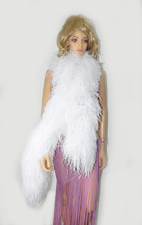 White New Feather Boa