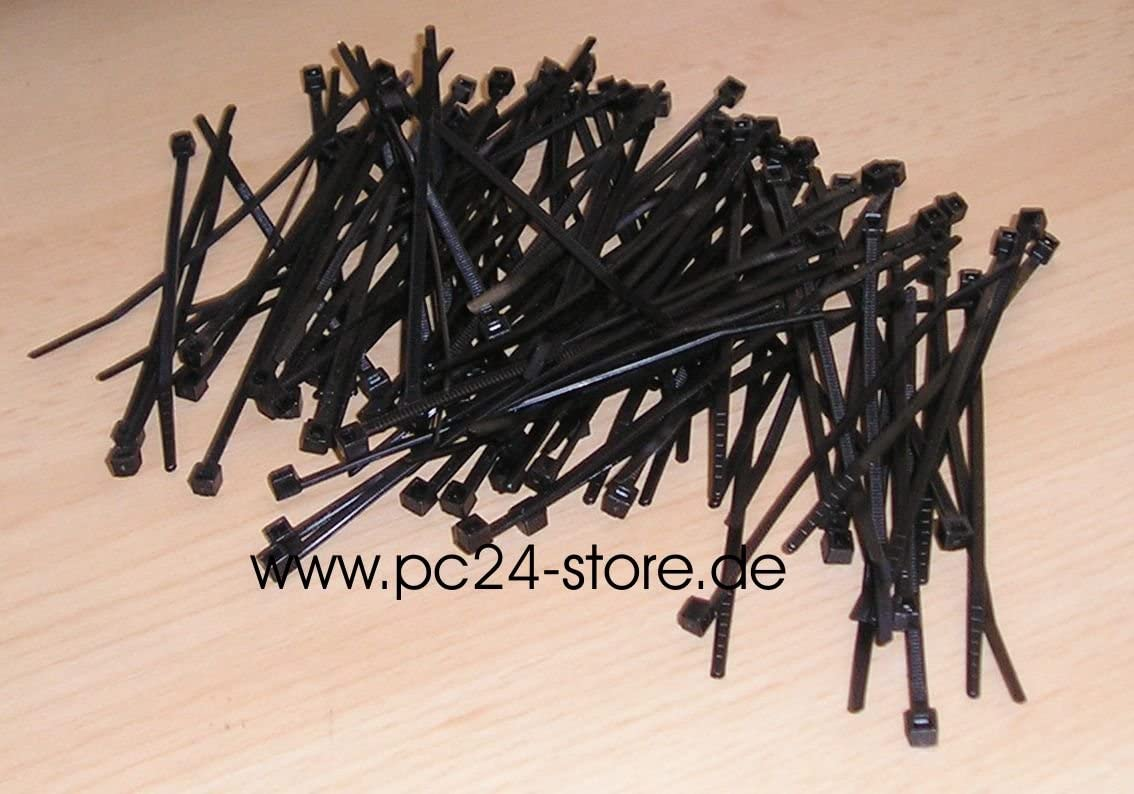 100 FASCETTE PER CABLAGGIO 4x200mm NERE 4//11679