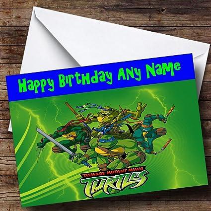 Teenage Mutant Ninja Turtles personaliseitonline Tarjeta de ...