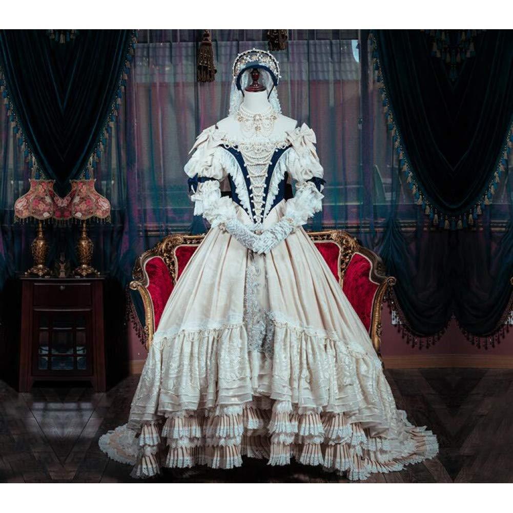 QAQBDBCKL Dress Up Lolita Dress Cosplay Kostüm Nach Maß Größe Queen Version  L