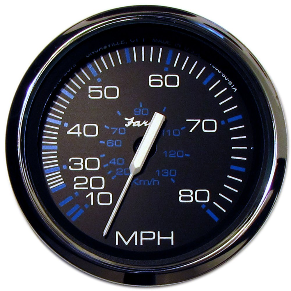 The Excellent Quality Faria Chesapeake Black SS 4'' Speedometer - 80MPH (Mechanical)