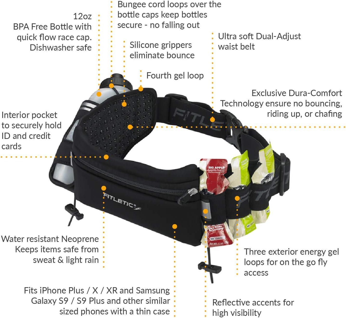 Fitletic HD12/Trinkg/ürtel Unisex Erwachsene