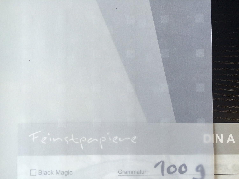 50 hojas de papel DIN A3 transparente Zanders Spectral Time Square Blanco con patrón de – Cuadrados 100 g/msup2; Excelente traspaso, muy buena calidad, de uso: invitaciones, tarjetas de visita, plantilla hojas para álbumes de fotos, t