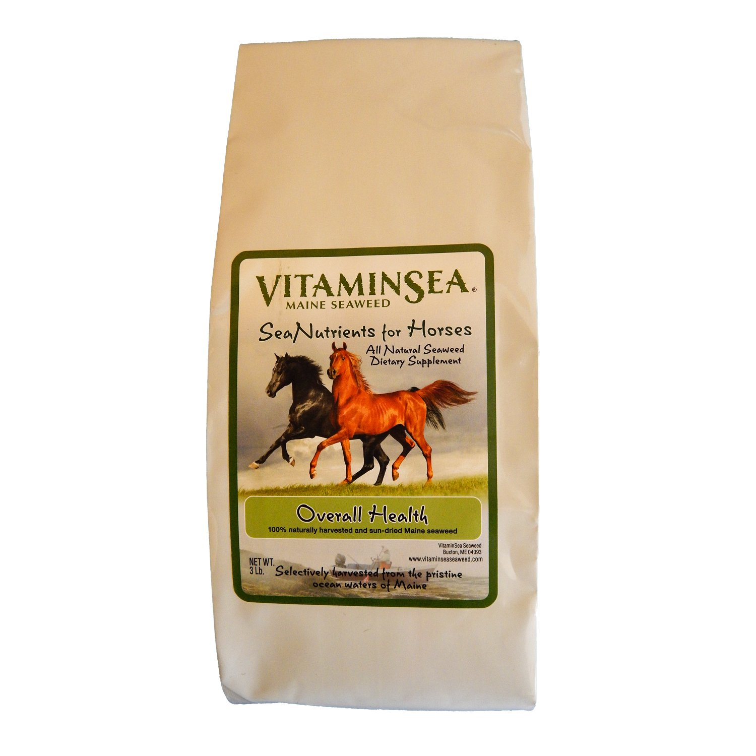 VITAMINSEA Horse Supplement Organic Kelp - Seaweed - 10 LB Overall Wellness - Vitamins Minerals Micro Nutrients & Maine Coast Sea Vegetables - Your Equine Health Atlantic Ocean Hand Harvested (HOW10)