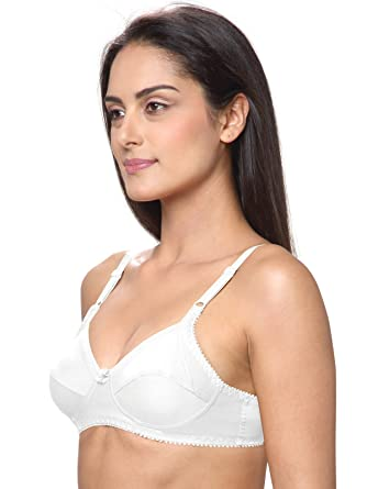 2f612a1fb11 Lovable Cotton Non Padded Non Wired Full Coverage White Bra - All Day Long  - L-2298-WHITE: Amazon.in: Clothing & Accessories