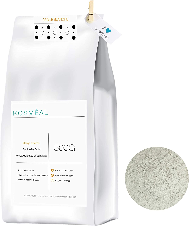 Arcilla Blanca Caolin En Polvo Francesa 500G - 100% Puro Y Natural - Embalaje Ecológico En Papel Kraft Blanco: Amazon.es: Belleza