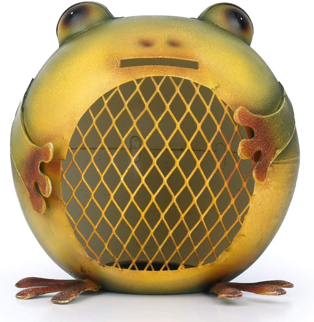 Mainstayae Frog Coin Bank Animal Piggy Bank Iron Piggy Bank غرفة نوم ديكور هدية للأطفال