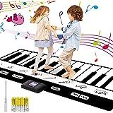 Musical Alfombra para ni?os,Alfombra de Piano Manta de Juguete , Dancing Challenge & Tapiz musical de baile, 24 teclas con 8 ajustes de instrumentos musicales 4 pilas AA incluidas(180*17*1cm)