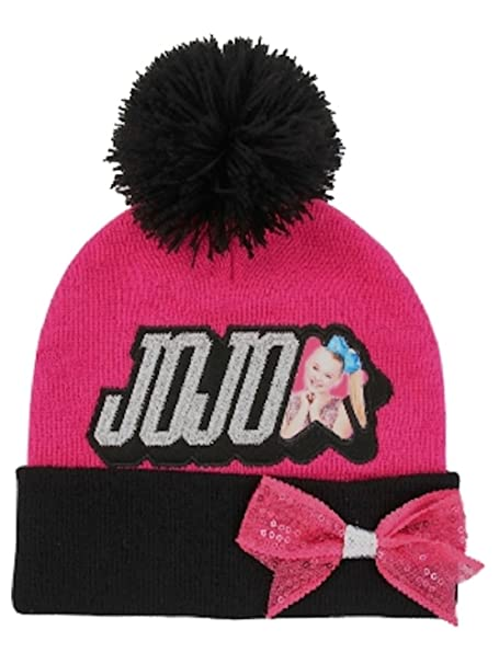 bfb3c483319 JoJo Siwa Nickelodeon Girls  Beanie Knit Hat   Glove Set  Amazon.ca   Clothing   Accessories
