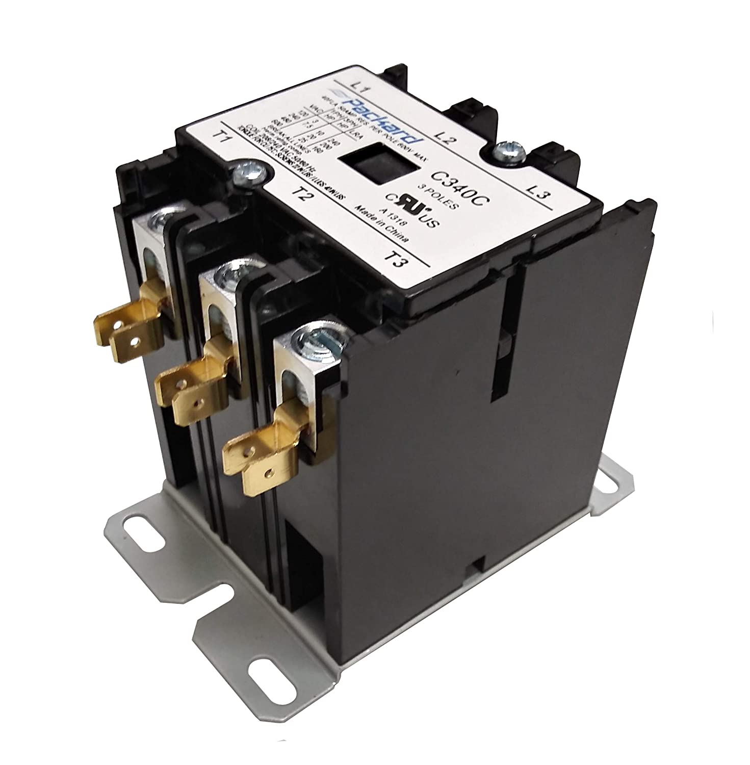 packard c340c 3 pole 40 amp contactor 208/240 volt coil contactor:  replacement household furnace electronic relays: amazon.com: industrial &  scientific  amazon.com