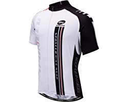 sponeed Men's Cycling Jerseys Tops Biking Shirts Short Sleeve Bike Clothing Full Zipper Bicycle Jacket with Pockets
