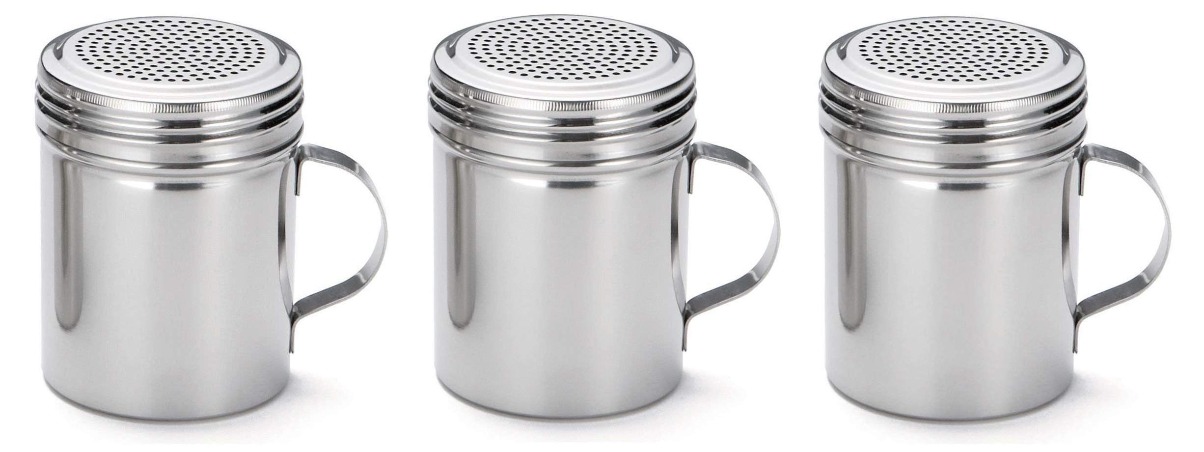 TableCraft (H159H) 10-Ounce Stainless Steel Dredge (Thrее Рack)