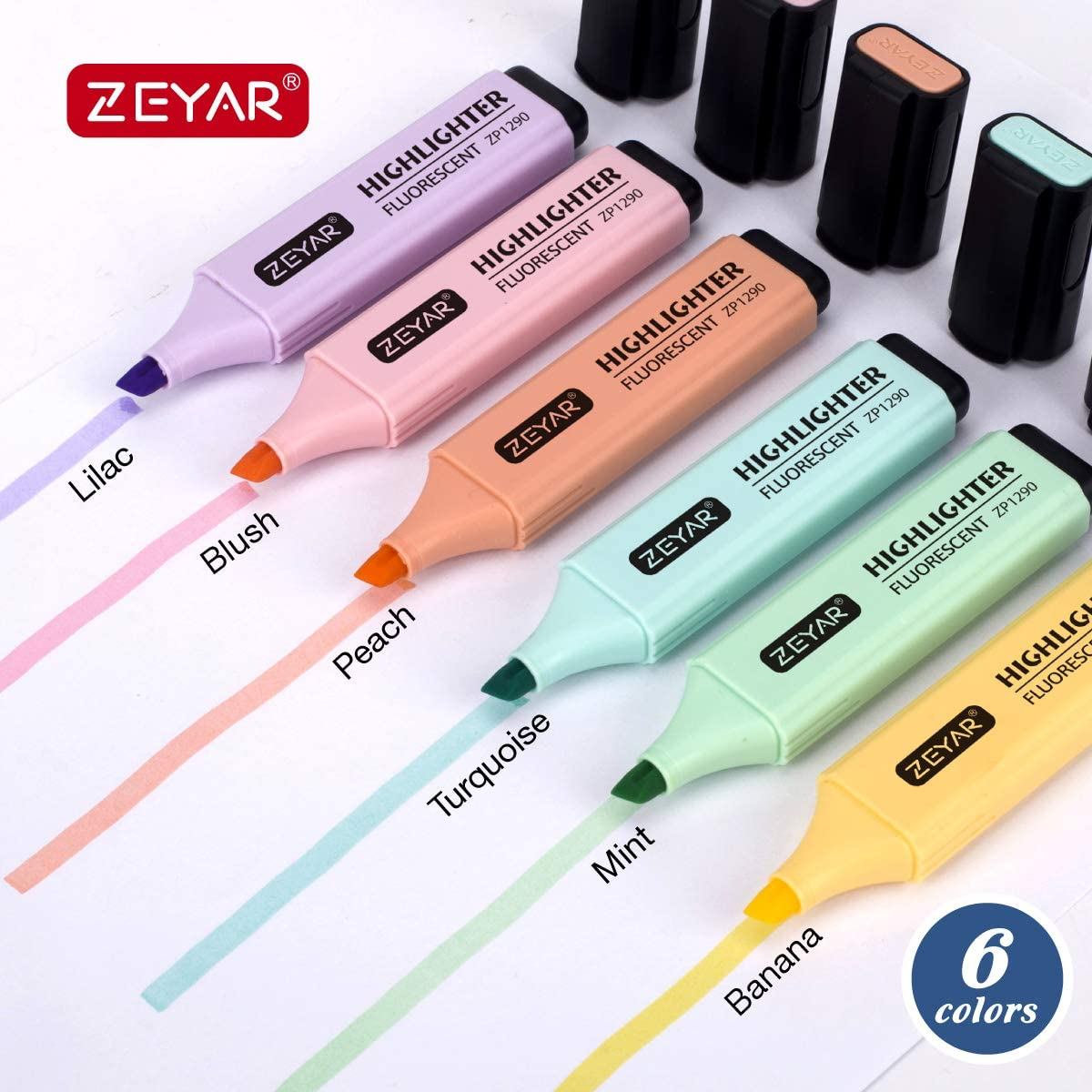 Pastel Colours Great Value Highlighter assorted Pack of 4 Chisel tip wallet