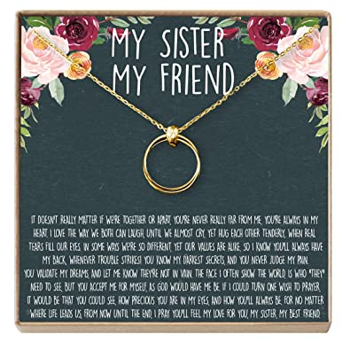 Sisters Necklace Sister Gift For Birthday Giggles