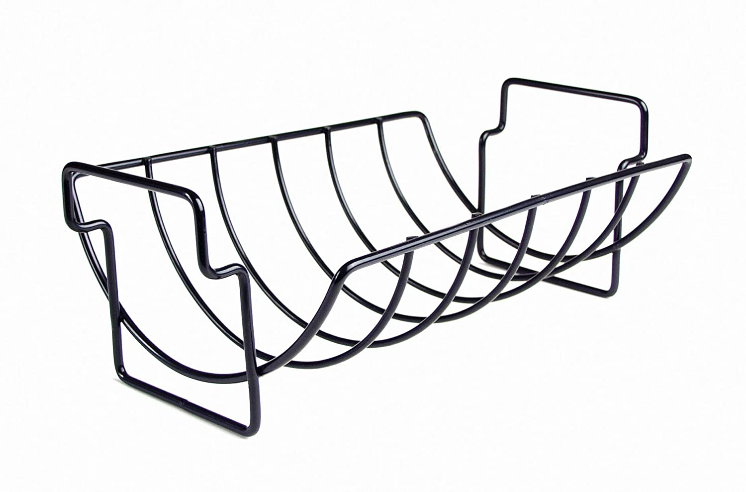 Charcoal Companion Non-Stick Reversible Roasting Rib Rack Best of Barbeque CC3001
