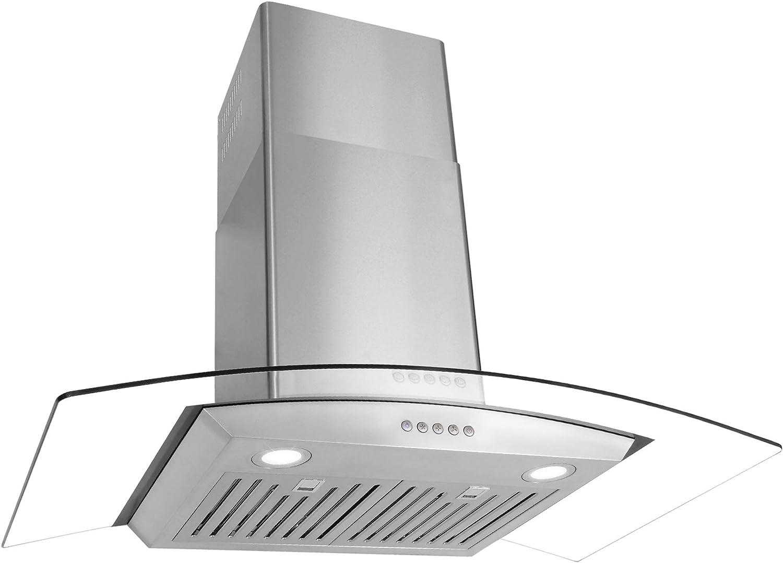 Cosmo 36 pulgadas. Campana de pared Pro-Style | 760 CFM, ventilador de 3 velocidades, filtros permanentes reutilizables, luces LED | acero inoxidable COS-668WRC90: Amazon.es: Grandes electrodomésticos