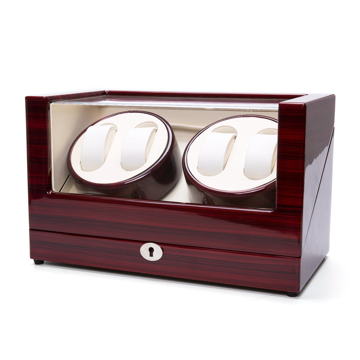 Watch Winder Case Automatic Quad Watches Jewelry Storage Cases Display Box by Gregarder (Image #4)