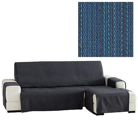 Jarrous Funda Cubre Chaise Longue Práctica Modelo Erika, Color Azul (C/03), Medida Normal (240cm), con Brazo Derecho (Mirándolo de Frente)