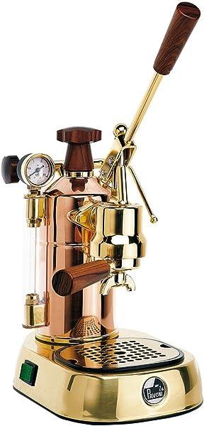 Handhebel-Siebträgermaschine La Pavoni Professional Lusso in Gold