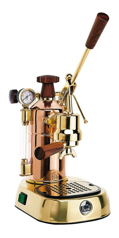 la Pavoni Professional PRG Independiente Semi-automática Máquina espresso 1.6L 16tazas Oro - Cafetera (Independiente, Máquina espresso, 1,6 L, De café ...
