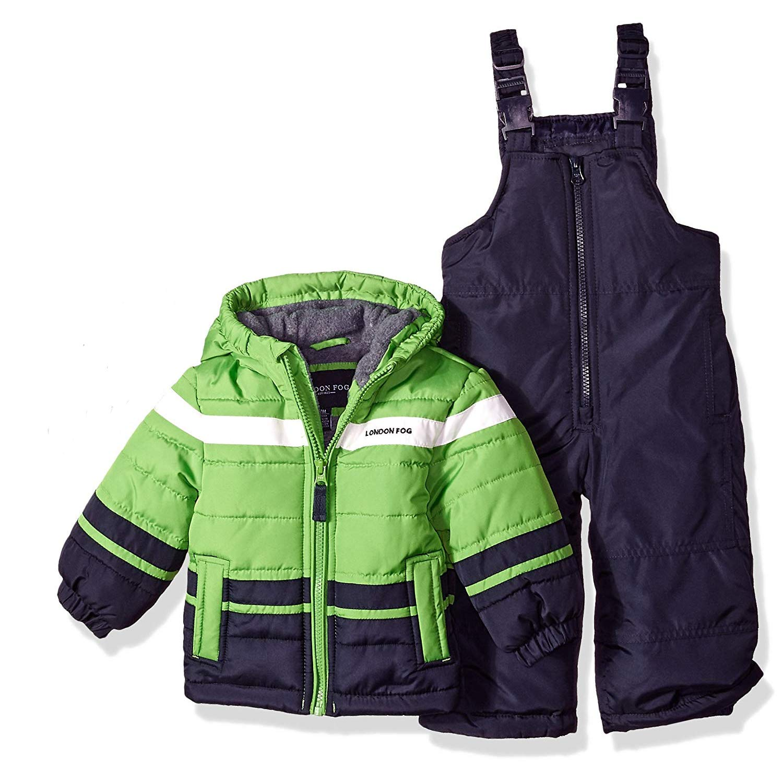 London Fog Baby Boys 2-Piece Snow Pant & Jacket Snowsuit, Green, 12M by London Fog