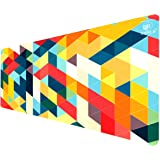 Zarrius AU Extra Large Extended Gaming Mouse Pad Keyboard Desk Mat XL - 90x40cm - 3mm - Geometric Multicolour -Non-Slip Rubber Base