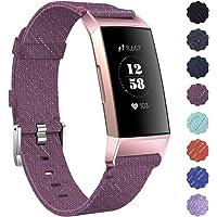 KIMILAR Armbanden compatibel met Fitbit Charge 3 / Charge 4 Bandje Stof, Snelspanner Nylon Reserveband compatibel met Fitbit Charge 4 & Charge 3 & SE Fitness Tracker