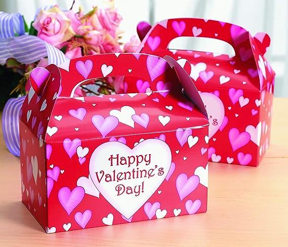 Set of 24 Heart Paper Mini Treat Boxes Valentine Treat Boxes