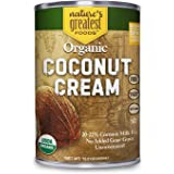 Organic Coconut Cream by Nature's Greatest Foods - 13.5 Oz - No Guar Gum, No Preservatives – Gluten Free, Vegan and Kosher -