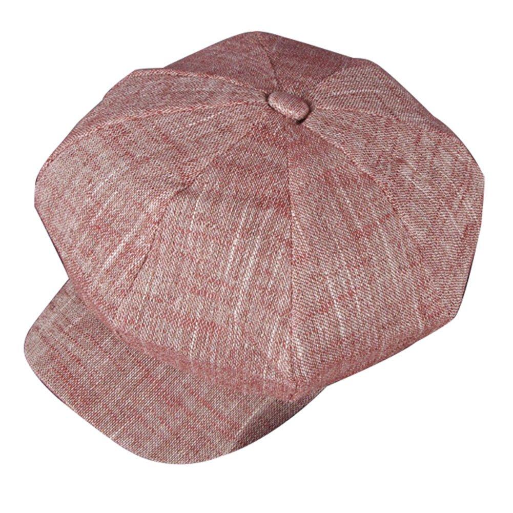 ZLS Women's Gatsby Newsboy Hat Cotton Linen Blend Painter Caps