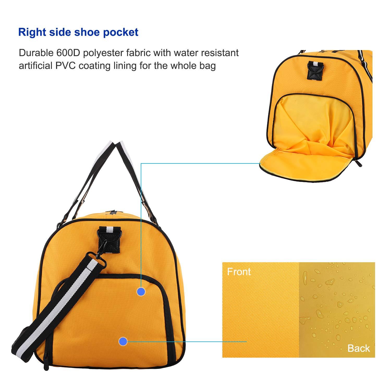 apollo walker Bolsa de Deporte con Compartimento Zapatos Bolsas Gimnasio de Grande Viaje Impermeable para Hombres y Mujeres 45l