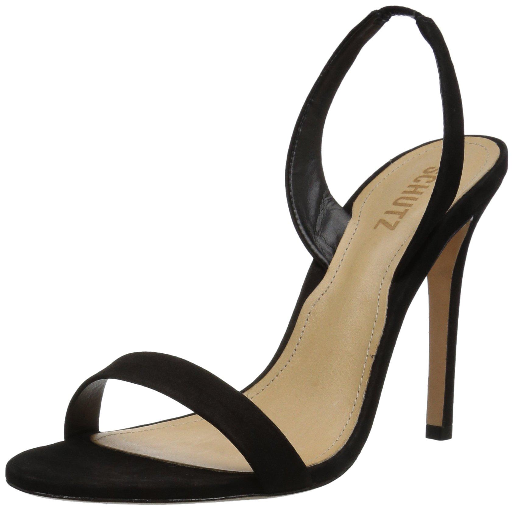 Schutz Women's Luriane Heeled Sandal, Black, 7 M US