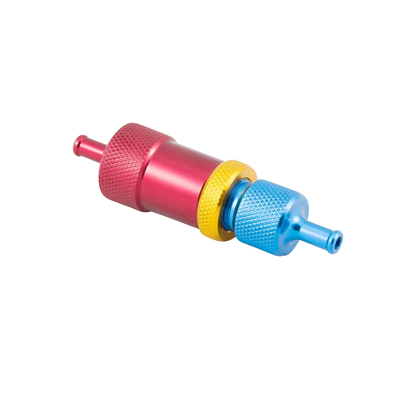 Manueller Boost Controller Inline Dampfrad Turbo Wastegate Kugel Feder Blau