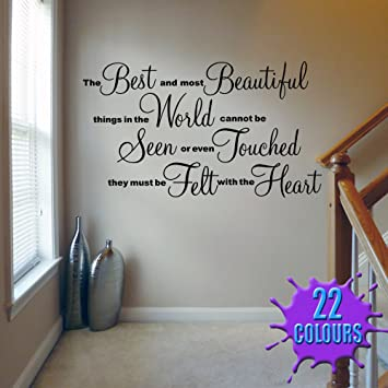 The Best And Most Beautiful   Wall Decal Sticker Quote Lounge Living Room  Bedroom (Large Part 60