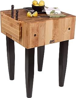 "product image for John Boos Pca2 24x18x10"" Maple Butcher Block w/Knife Holder,Black Legs"