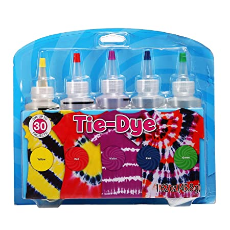 Essort Tie-Dye Kit One-Step Kit Tinte para Ropa 5 Colores para ...
