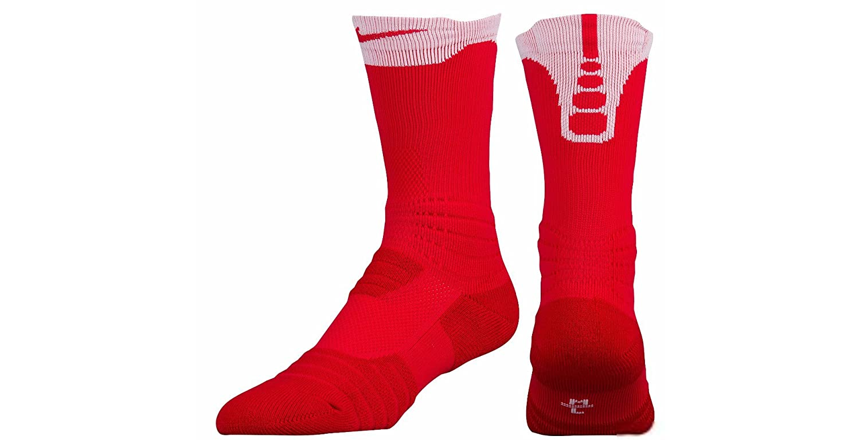 Nike Men Elite versatilidad Baloncesto Calcetines, Rojo ...