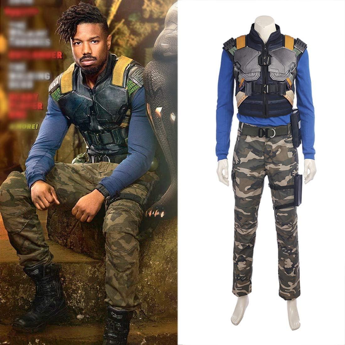 Rubyonly New Movie Black Panther Costume Erik Killmonger Cosplay Costume Halloween Costumes For Men Full Set Whole Set Xxl Amazon Co Uk Kitchen Home