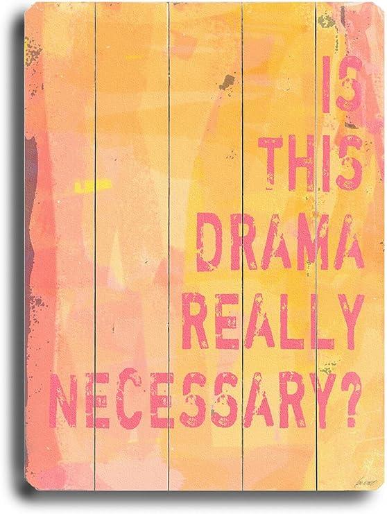 Amazon.com: Cartel de madera de Arte House, es este drama ...