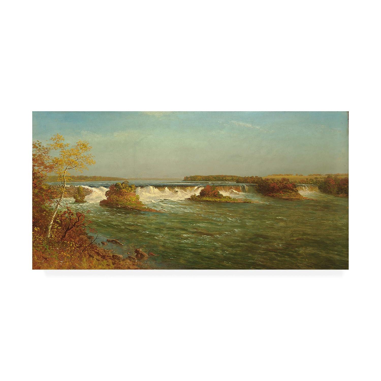 Trademark Fine Art The Falls of Saint Anthony by Albert Bierstadt 16x32
