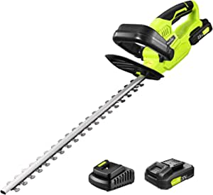 "Cordless Hedge Trimmer - 1400RPM Powerful Electric Hedge Trimmer Cordless with 22"" Dual-Action Blade, 0.55"" Blade Spacing Hedge Trimmers Cordless with Battery, Include 20V 2.0Ah Battery and Charger"