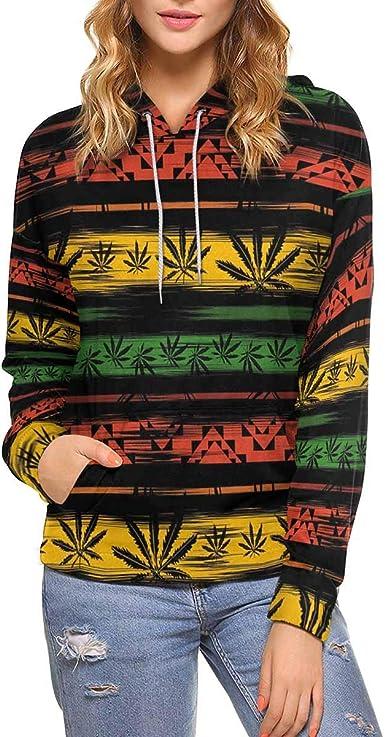 XS-XL INTERESTPRINT Womens Crew Neck Long Sleeve Pullover Heart Pattern Casual Sweatshirt Tops