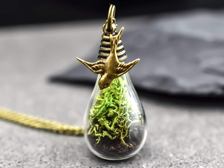 FR/ÜHLING Echtes Moos /& Erde Bronze Kette