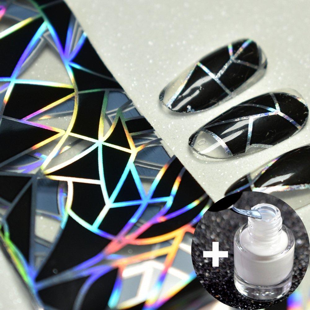 Amazon.com: Born Pretty 1Pc Gradient Holographic Nail Foils Nail Art ...