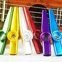 SINBLUE Set of 6 Colorful Metal Kazoo - A Good Companion for Guitar, Ukulele, Violin, Piano Keyboard(Great Gift for Kids Music Lovers,Kazoo Kid Trap Music)