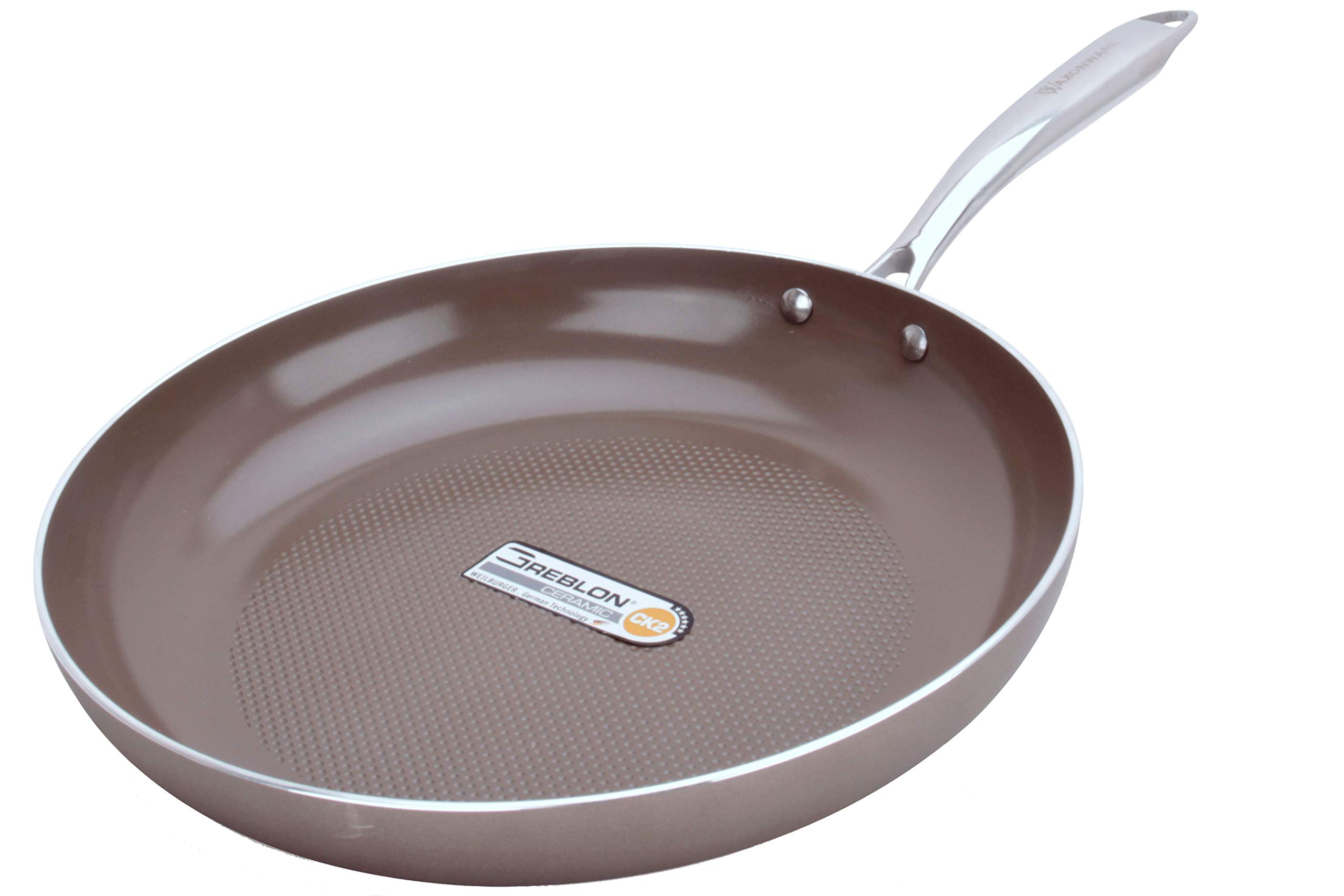 WaxonWare 8.5 & 12 Inch Ceramic Nonstick Frying Pans, Non Toxic PTFE APEO PFOA Free Nonstick Skillets, Induction Compatible, Dishwasher & Oven Safe Omelette Fry Pan With German Coating (HIVE Series) by WaxonWare (Image #2)