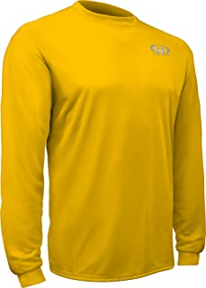 product image for PT-803L-CB Adult Men's and Women's Loose Fit Long Sleeve Workout Shirt-Made with Moisture Management and Anti-Microbial Performance Fabric (XX-Large, Gold)